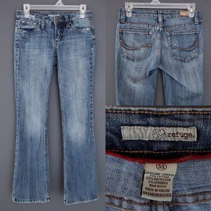 REFUGE Bootcut Jeans Stretch Low Rise Short Length